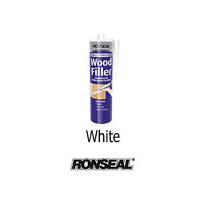 Image for Ronseal Multipurpose Wood Filler Cartridge - White - 310ml from StoreName