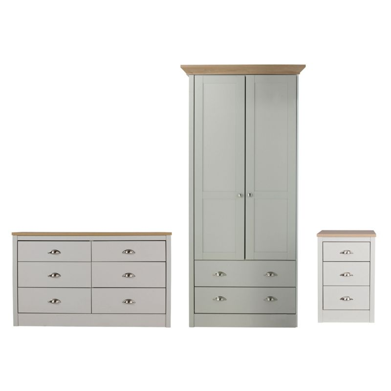 image of wimborne bedroom furniture package grey