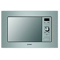 Indesit MWI 222.1 X Built-in Grill and Fan Microwave - Inox