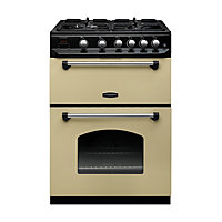 Rangemaster Classic NG Cooker 60cm - Cream and Chrome