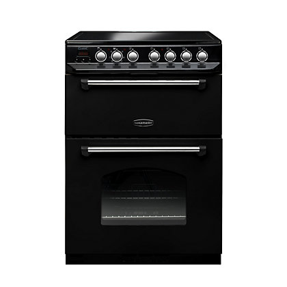 Image for Rangemaster Classic Ceramic Cooker - 60cm - Black and Chrome from StoreName