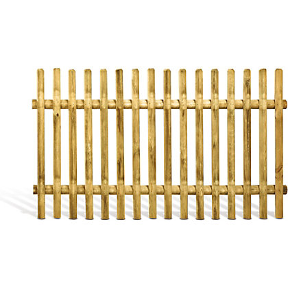 Image for Rothley Plya Half Rounded Stake Fence Panel - 1.0m from StoreName