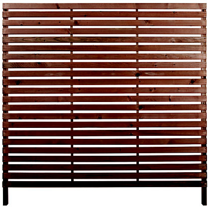 Image for Rothley Skreen Slatted 1.8m Fence Panels/Screens - Pack of 3 from StoreName