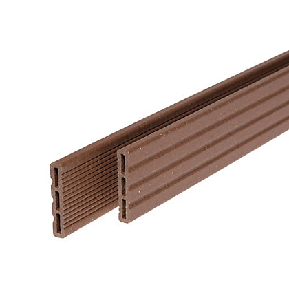 Image for Rothley Terra Brown Composite Decking Cover Strip - Pack of 4 from StoreName