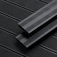 Rothley Terra Black Composite Decking - Pack of 10