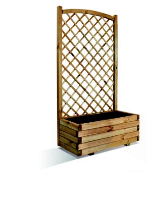 Rothley Lierre Arc Planter and Curved top Trellis - 80cm