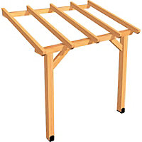 Rothley Lean To Carport Framework Kit With Roof 12 X 18ft