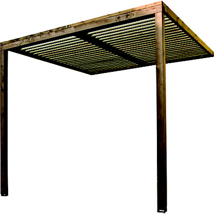 Image for Rothley Lean-to Canopy with Polycarbonate Roof - 8 x 8ft from StoreName