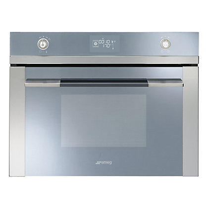 Image for Smeg SF4120VC 60cm Linea Compact Combination Steam Oven - Stainless Steel & Silver from StoreName