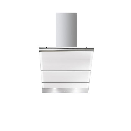 Image for Smeg KTS75BCE Linea Glass Angled Chimney Hood - 75cm - White from StoreName