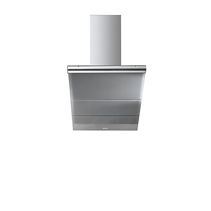 Image for Smeg KTS75CE Linea Glass Angled Chimney Hood - 75cm - Silver from StoreName