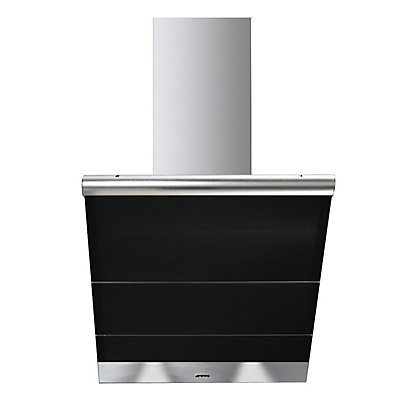 Image for Smeg KTS75NCE Linea Glass Angled Chimney Hood - 75cm - Black from StoreName