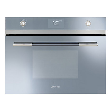 Image for Smeg SF4120MCS 60cm Compact Combination Microwave Oven - Silver from StoreName
