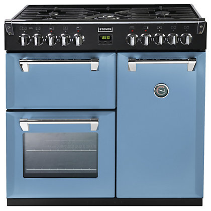 Image for Stoves 444441280 Days Break Dual Fuel Range Cooker - 90cm - Light Blue from StoreName