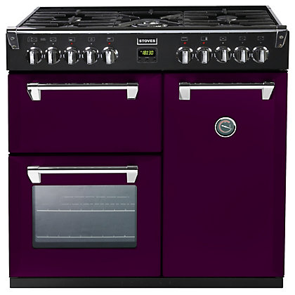 Image for Stoves 444441277 Wild Berry Dual Fuel Range Cooker 90cm - Purple from StoreName