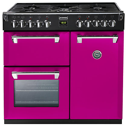 Image for Stoves 444441284 Floral Burst Dual Fuel Range Cooker - 90cm - Pink from StoreName