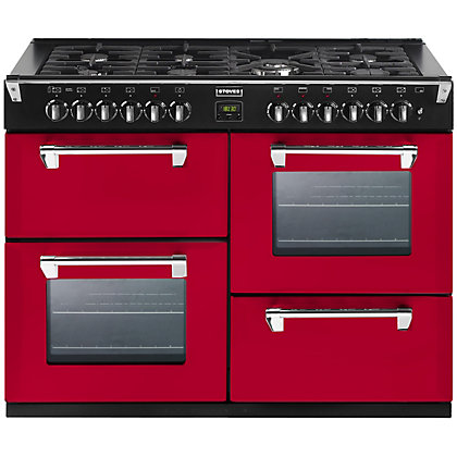 Image for Stoves 444441314 Dual Fuel Hot Jalapeno Range Cooker - 100cm - Red from StoreName