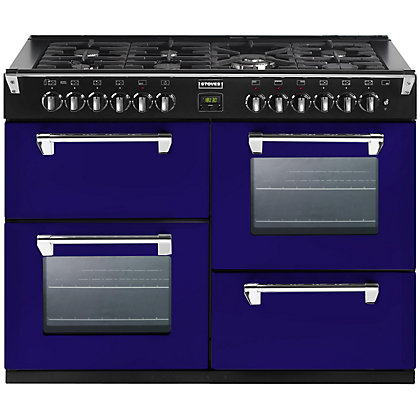 Image for Stoves 444441318 Midnight Gaze Dual Fuel Range Cooker - 100cm - Dark Blue from StoreName