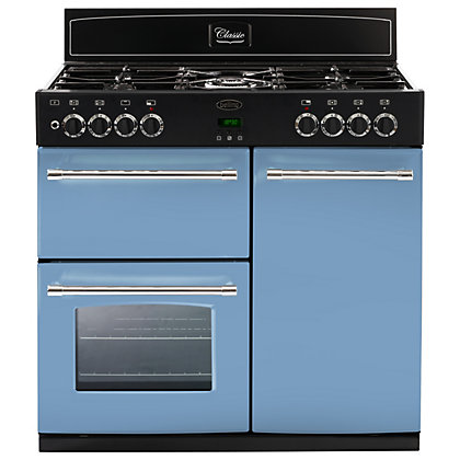 Image for Belling 444441400 Days Break Dual Fuel Range Cooker - 90cm - Light Blue from StoreName