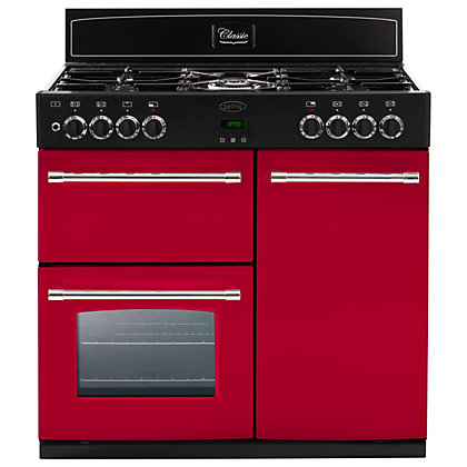 Image for Belling 444441398 Hot Jalapeno Dual Fuel Range Cooker - 90cm - Red from StoreName