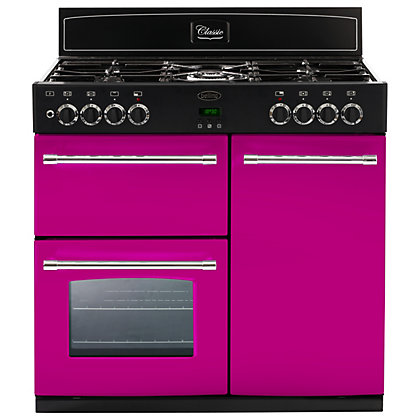 Image for Belling 444441404 Floral Burst Dual Fuel Range Cooker 90cm - Pink from StoreName