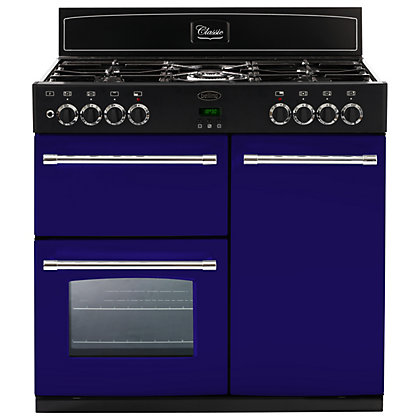 Image for Belling 444441402 Midnight Gaze Dual Fuel Range Cooker - 90cm - Dark Blue from StoreName