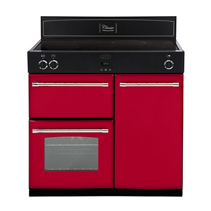 Image for Belling 444441900 Hot Jalapeno Induction Range Cooker - 90cm - Red from StoreName