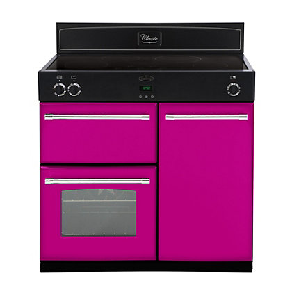 Image for Belling 444441906 Floral Burst Induction Range Cooker - 90cm - Pink from StoreName