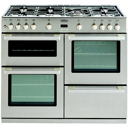 Image for Belling 444443020 Gas Range Cooker - 100cm - Stainless Steel from StoreName