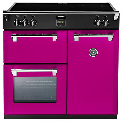 Image for Stoves 444441841 Floral Burst Induction Range Cooker - 90cm - Pink from StoreName
