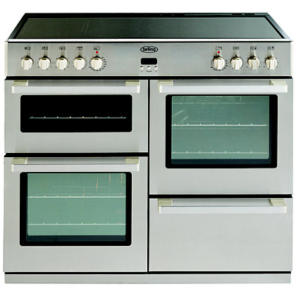 Image for Belling 444443026 Professional Ceramic Range Cooker 100cm - Stainless Steel from StoreName