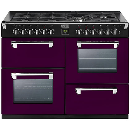 Image for Stoves 444441349 Wild Berry Dual Fuel Range Cooker - 110cm - Purple from StoreName