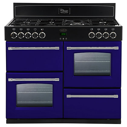 Image for Belling 444441414 Midnight Gaze Dual Fuel Range Cooker - 100cm - Dark Blue from StoreName