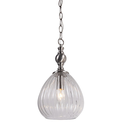 Image for Brushed Chrome Teardrop Pendant Light from StoreName