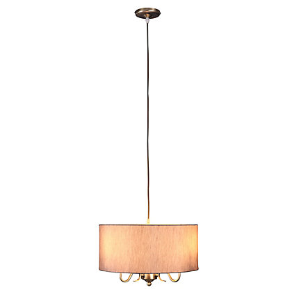 Image for 3 Light Antique Brass Pendant Light from StoreName