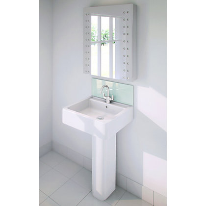 Image for Stormwall Aqua Glass Upstand - 600 x 200 x 6mm from StoreName