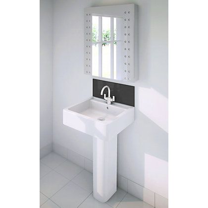 Image for Stormwall Black Glass Upstand - 600 x 200 x 6mm from StoreName