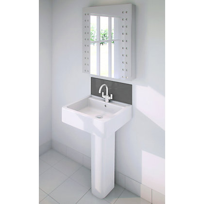 Image for Stormwall Charcoal Glass Upstand - 600 x 200 x 6mm from StoreName