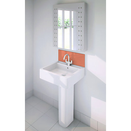 Image for Stormwall Orange Glass Upstand - 600 x 200 x 6mm from StoreName