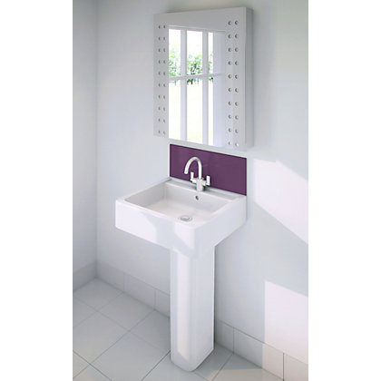 Image for Stormwall Purple Glass Upstand - 600 x 200 x 6mm from StoreName