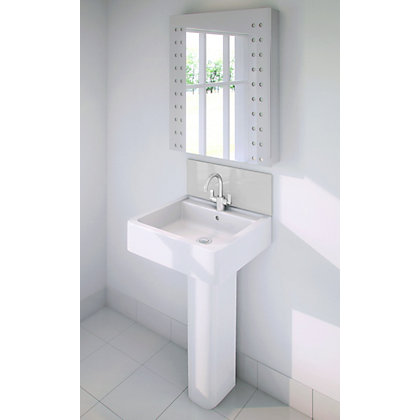Image for Stormwall White Glass Upstand - 600 x 200 x 6mm from StoreName