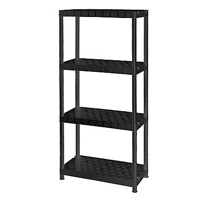 plastic shelf 4 tier. Black Bedroom Furniture Sets. Home Design Ideas