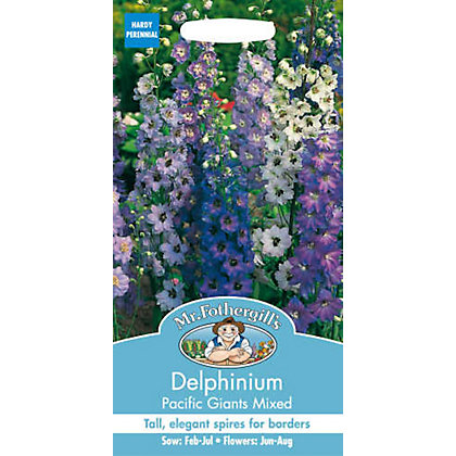 Image for Delphinium Pacific Giants Mixed (Delphinium X Cultorum) Seeds from StoreName