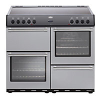 Belling Country Classic 100E Electric Range Cooker - Silver.