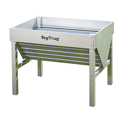 Image for Aluminium Silver Small VegTrug - 1m from StoreName