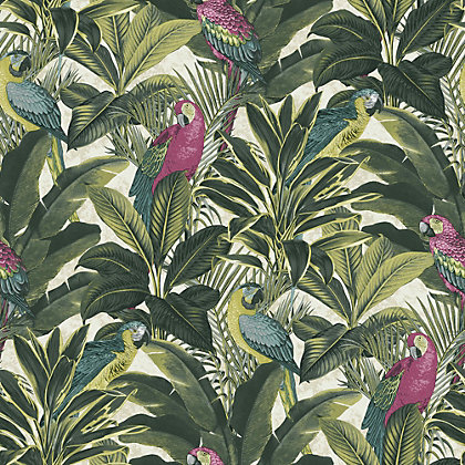 Image for Exotic Bird Pink Wallpaper from StoreName
