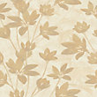 Nature Luxury Gold Flower on Light Beige Wallpaper