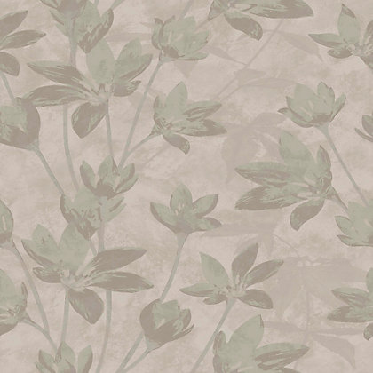 Image for Nature Luxury Gold Flower on Cocoa Wallpaper from StoreName
