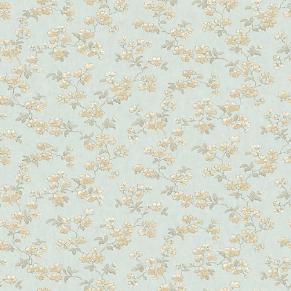 Image for Pastel Florals Cream Flower Wallpaper from StoreName