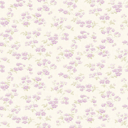 Image for Pastel Florals Lilac Flower Wallpaper from StoreName